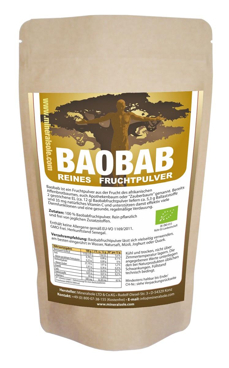 Baobab Frucht Pulver Bio Mineralsole